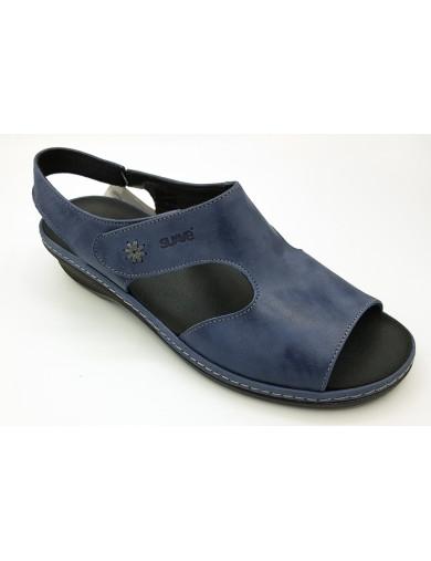 Suave sandalia cobalto