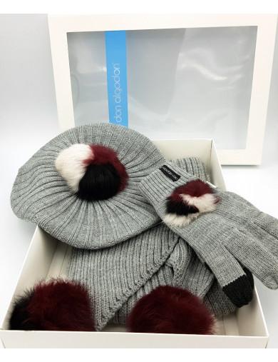 DON ALGODON Boina, bufanda y guantes